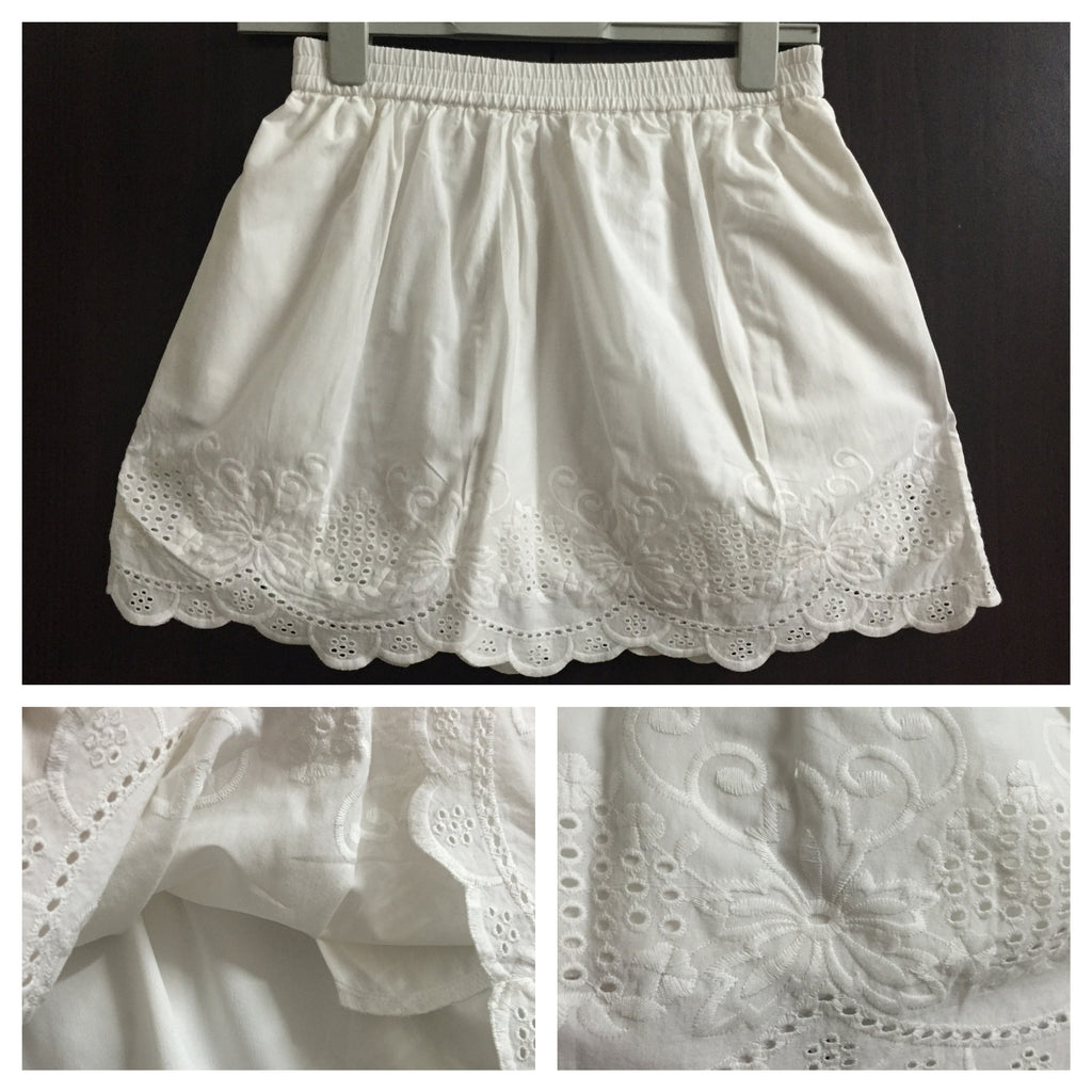 Pretty White Cotton Skirt - #FTFY - For The Fun Years