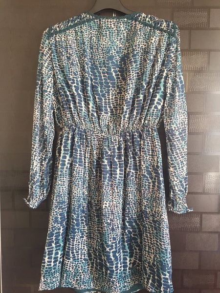 Knotty Green, Animal Print Dress