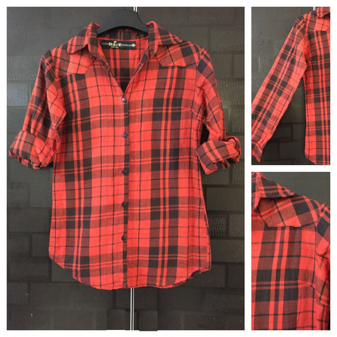 Checks - Red and Black Casual Shirt