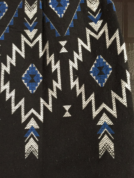 Blue - Black Stylish Skirt with white thread work - #FTFY - For The Fun Years