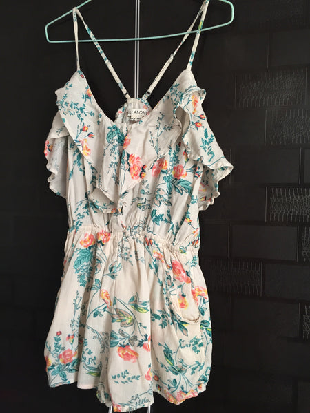 Floral Short Green-Brown Jump Suit
