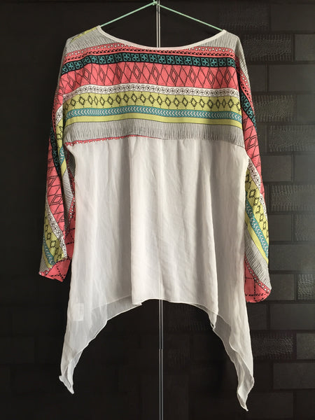 Neck and Sleeves Printed, Stylish Top