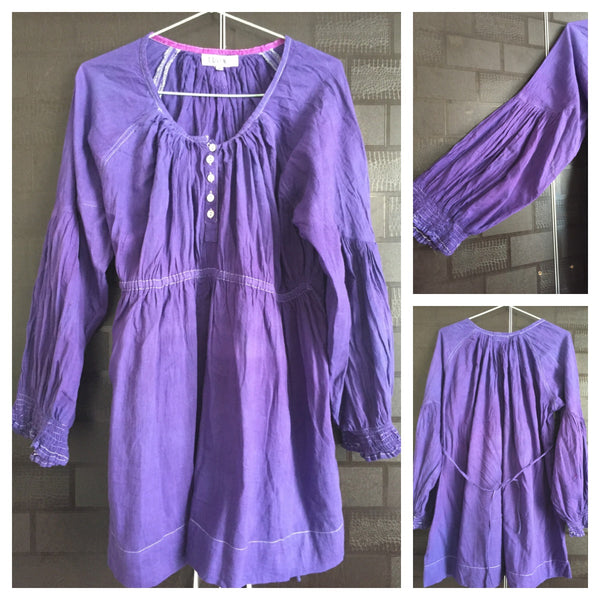 Clearance - No exchange - Purplish Blue Top with loose sleeves