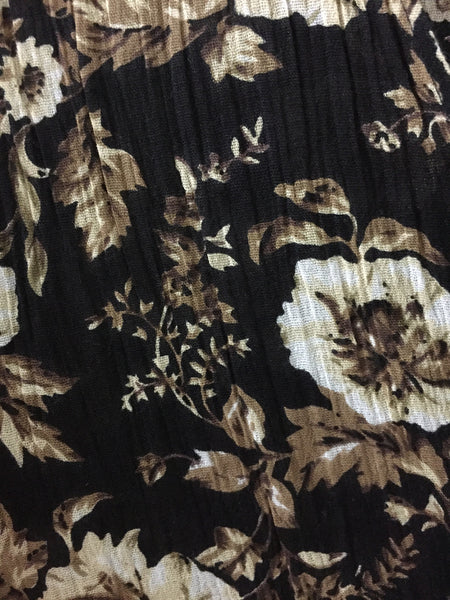 Brown and Cream Flowers on net panel shrug