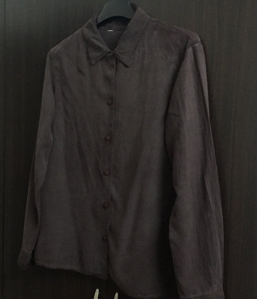 Chocolate Brown Velvet Feel Shirt