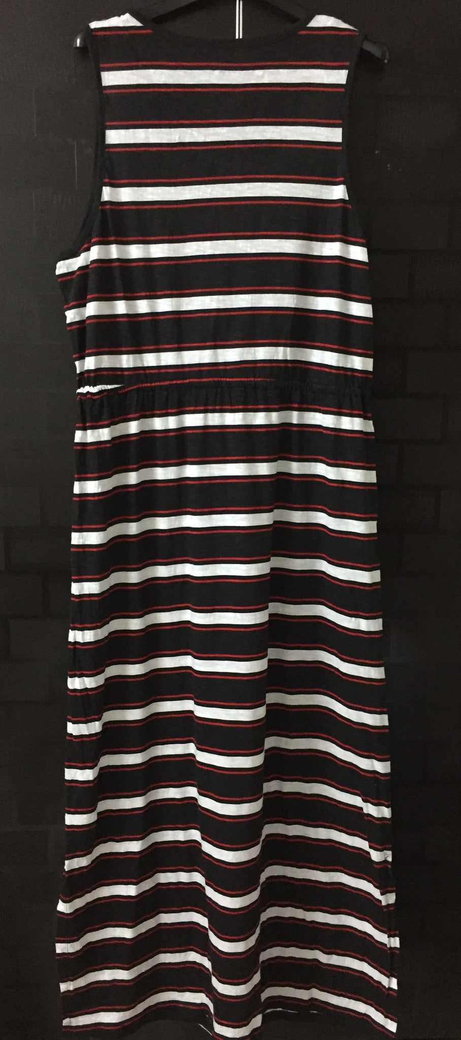 Striped Red, Black and White Maxi Dress