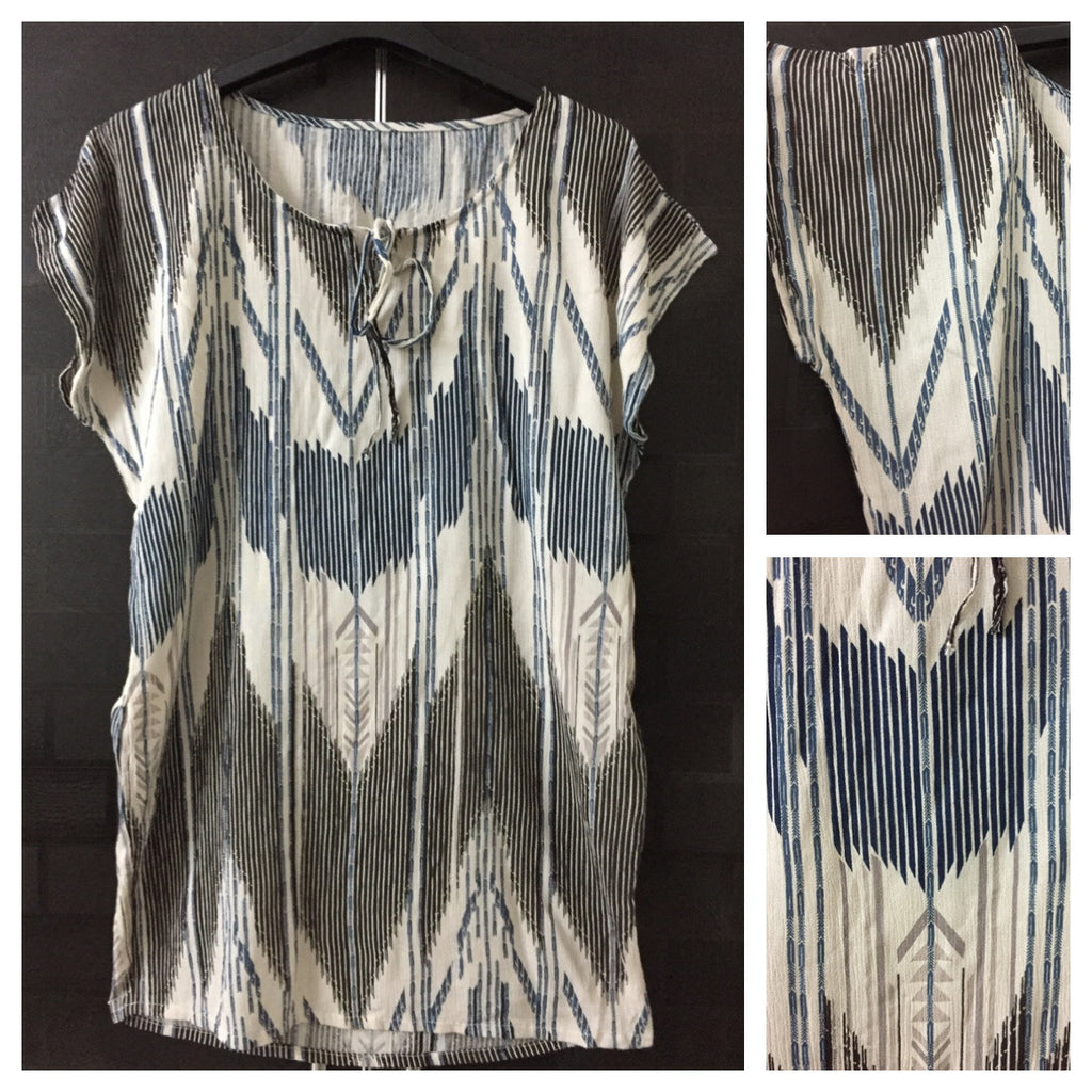 Light Brown Top with Arrow Prints