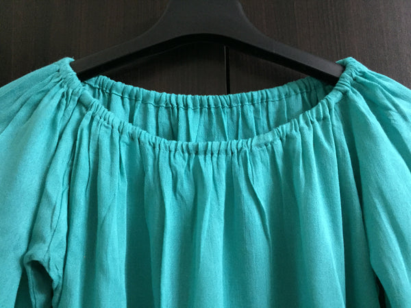Beautiful Off - Shoulder Top - Blue Green - #FTFY - For The Fun Years