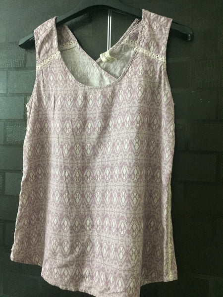 Pink and White, Crossed Back Casual Top