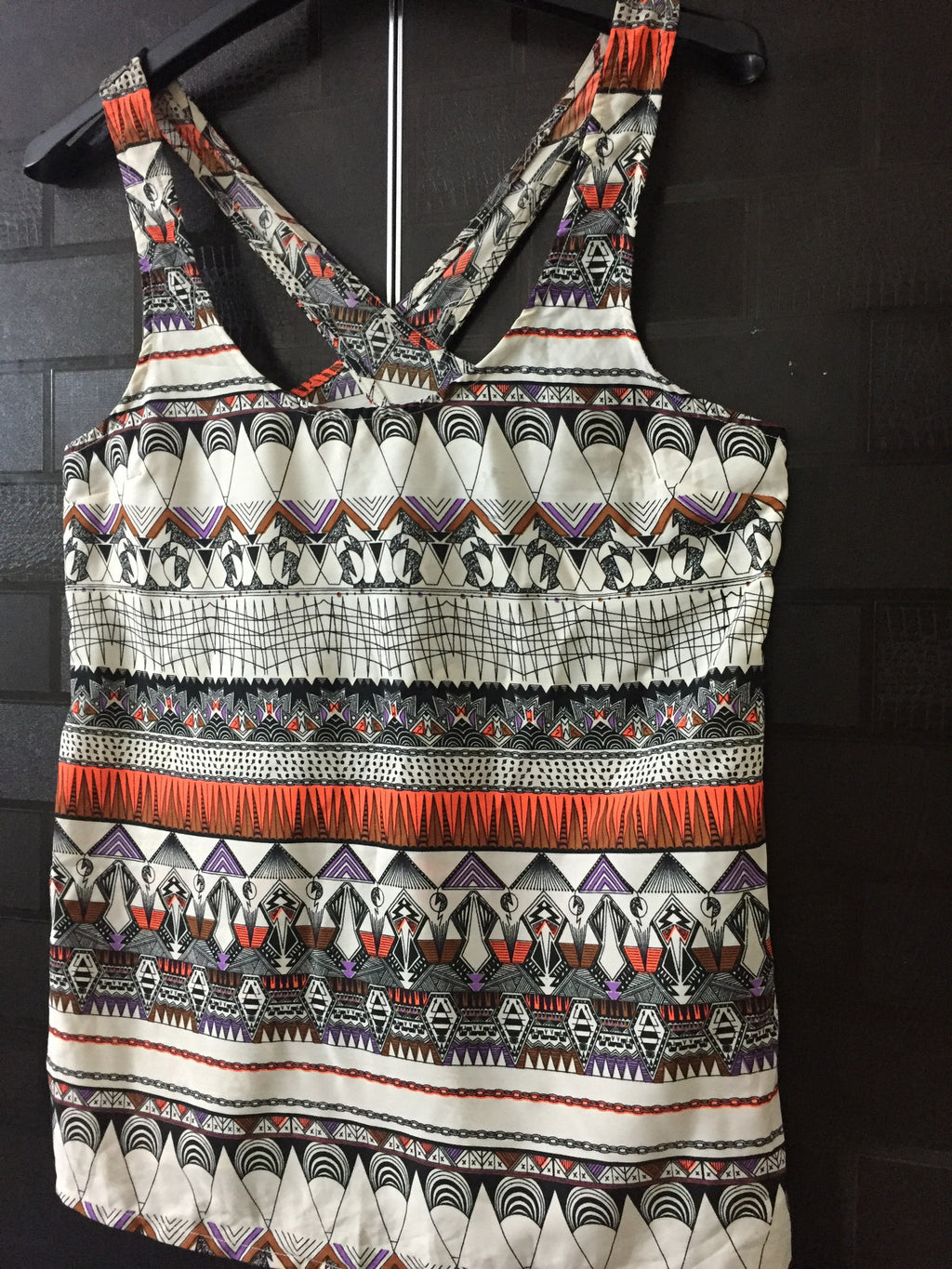 Different Prints, Stylish Cross Back Sleeveless Top