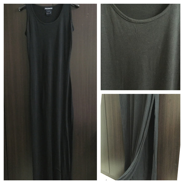 Body Fitted Stretchable Viscose Long Dress - Black - #FTFY - For The Fun Years