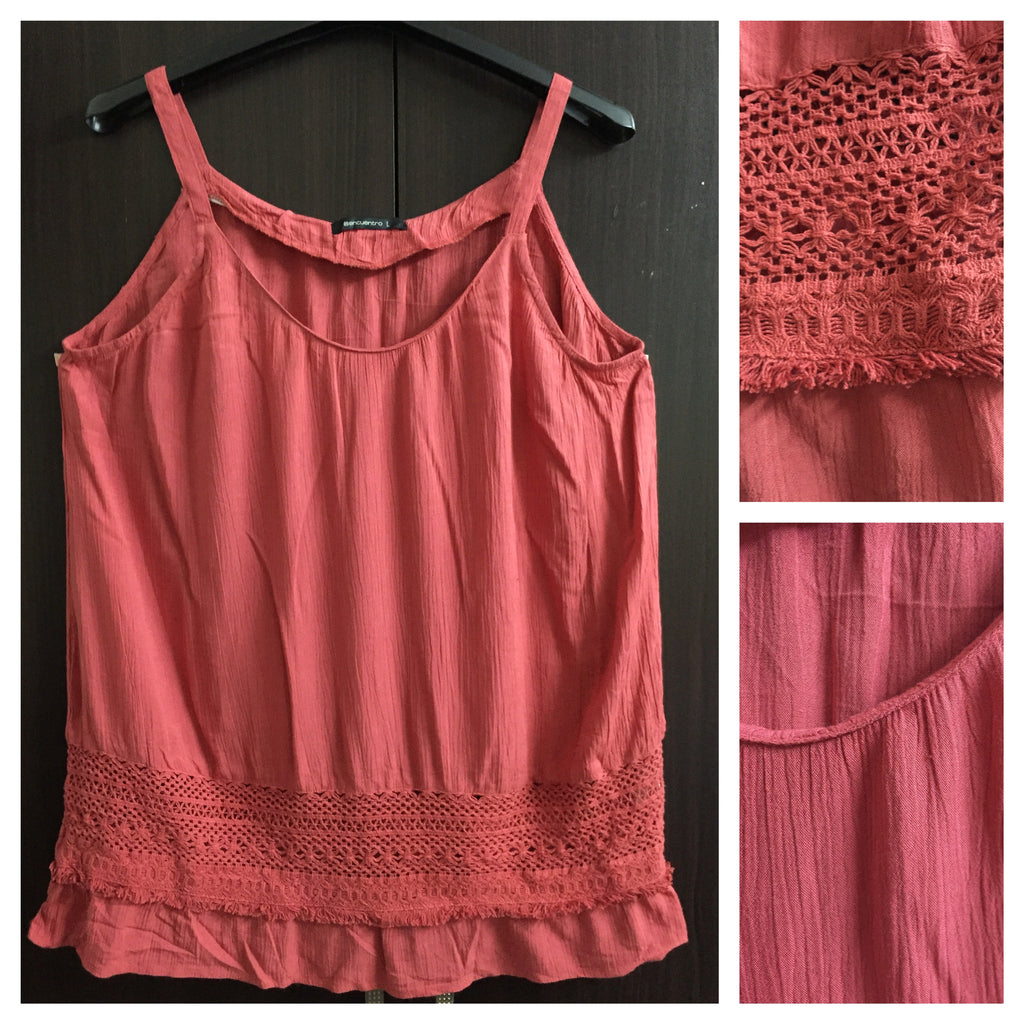 Dark Pink Spaghetti Top - #FTFY - For The Fun Years