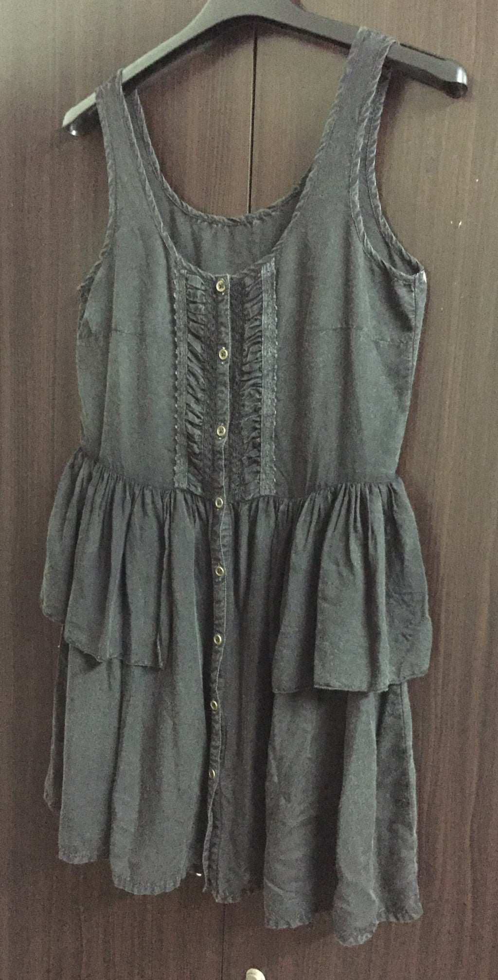 Rusty Black Faded Look Short Dress
