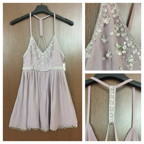 Sequined Light Purple - Party Dress