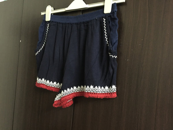 Dark Blue Shorts with Red & White Border Design - #FTFY - For The Fun Years