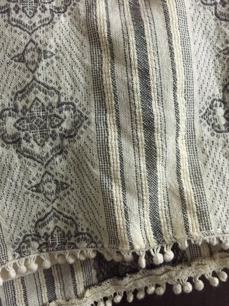 Cream Short with Grey Thread work - #FTFY - For The Fun Years