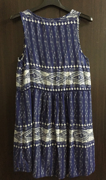 Blue & Cream Casual Dress - #FTFY - For The Fun Years