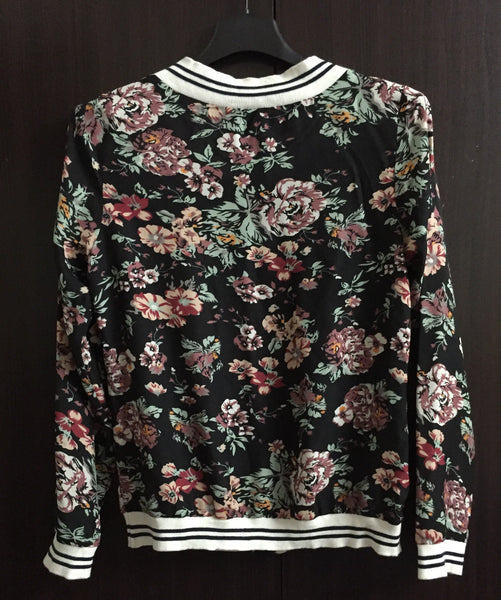 Stylish Black Floral Light Jacket.