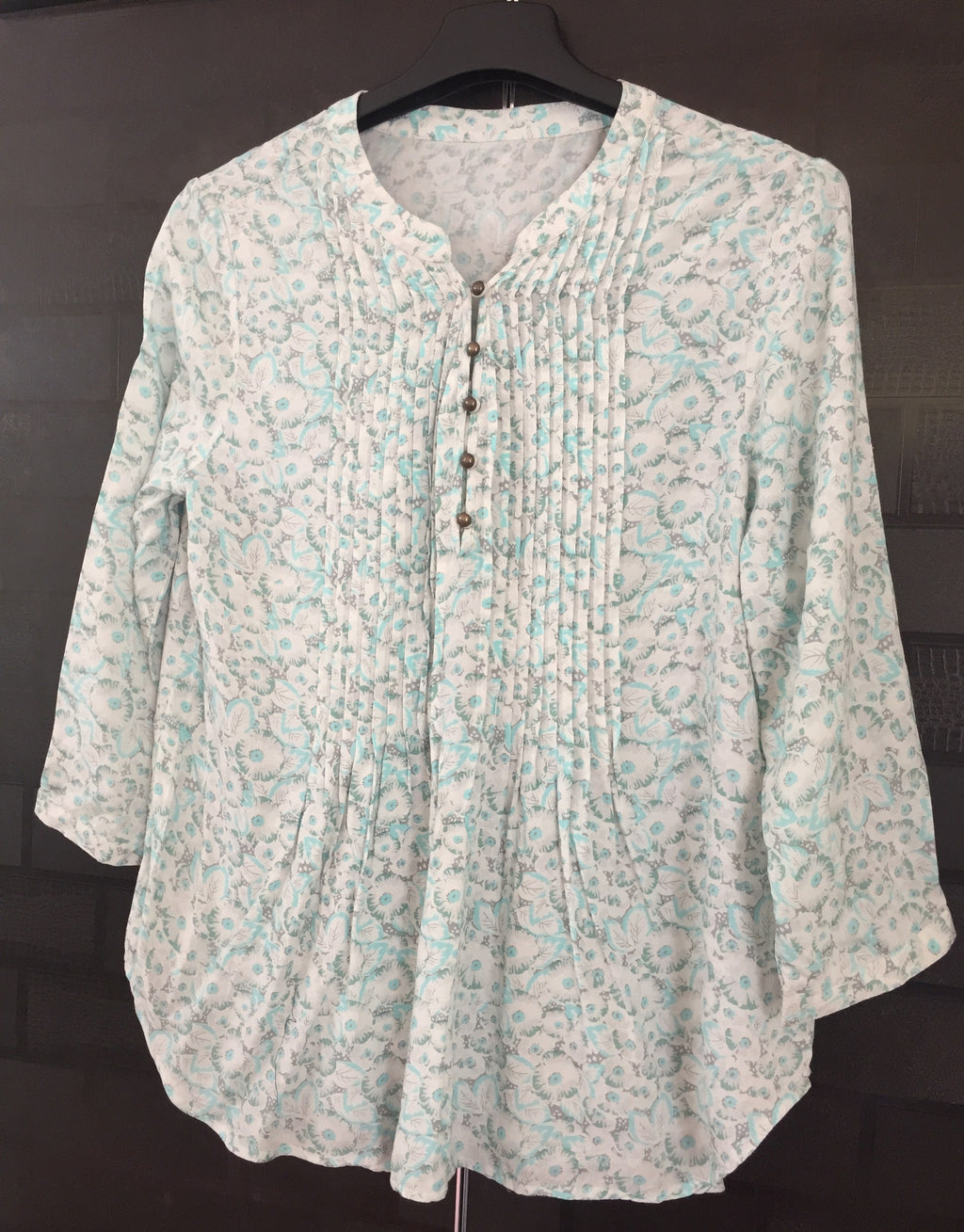 Lightest Green, Floral Printed Top