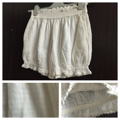 White Bloomer Shorts