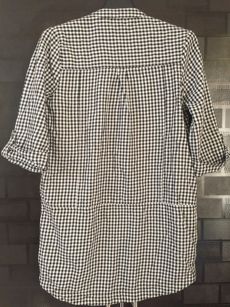 Checks - Stylish Black and White Long Top.