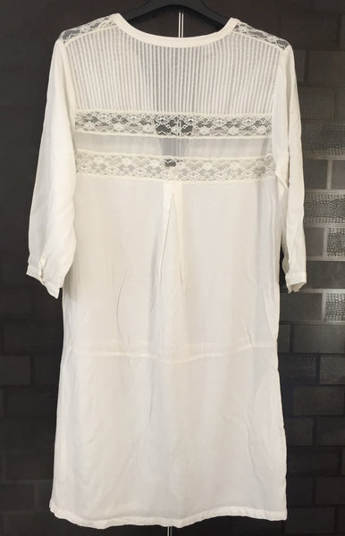 Long White tunic with lace work