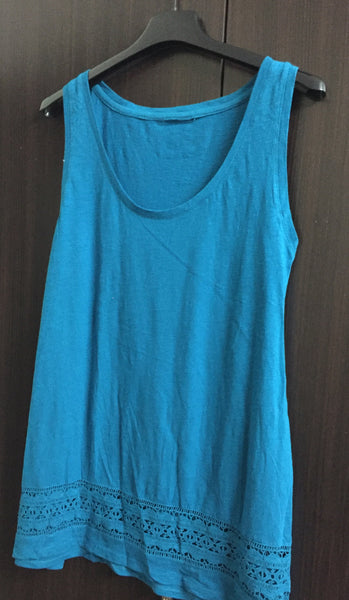 Simple Blue Sleeveless Top