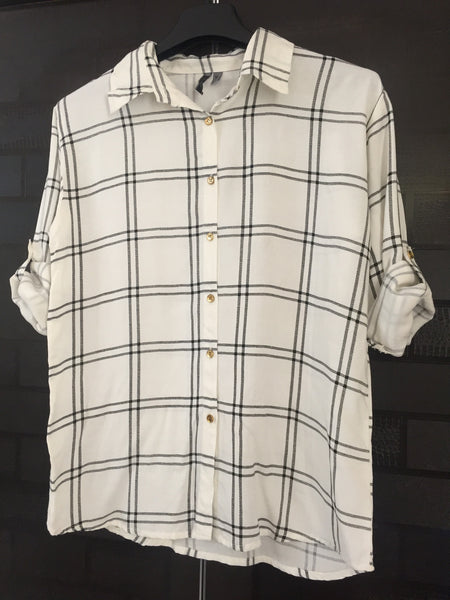 Big Checks - White and Black Casual Shirt - #FTFY - For The Fun Years