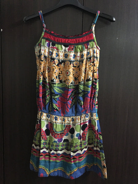 Multi color, Multi Print Floral Dress