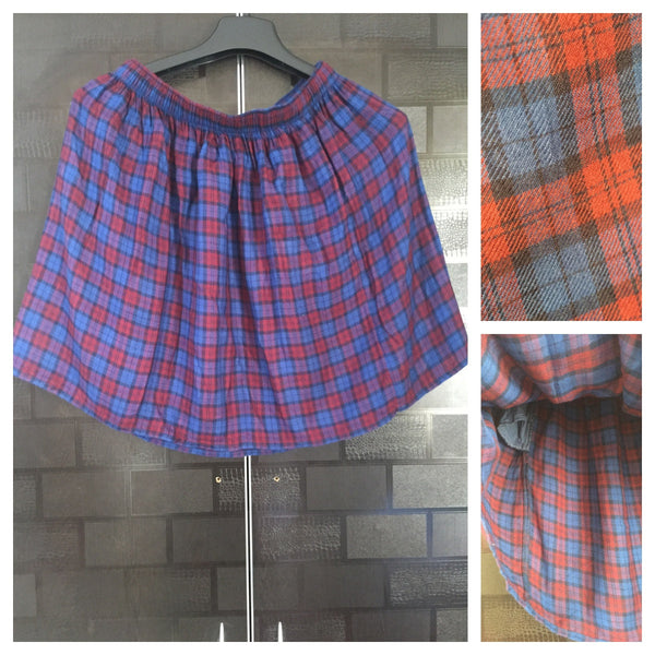 Checks - Blue and Red Skirt