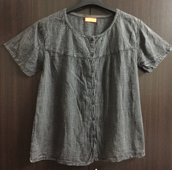 Denim Look, Rusty Soft Cotton Grey Shirt