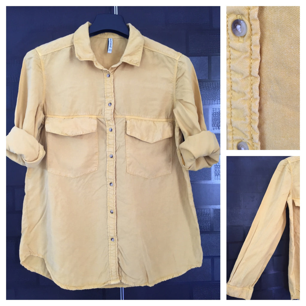 Denim Feel - Mustard, Casual Shirt