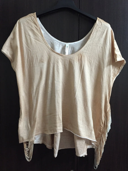 Faded Brown, Centre Short Top with side tassels.