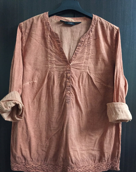 Rusty Orange Casual Top