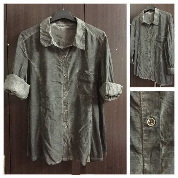 Faded Grey Cotton Shirt