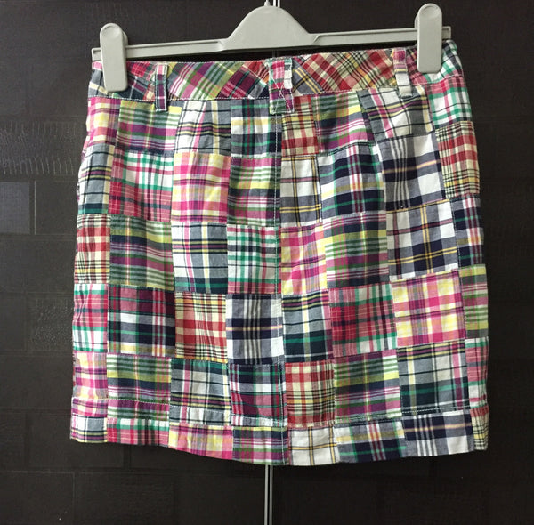 Multiple Checks, rag style skirt