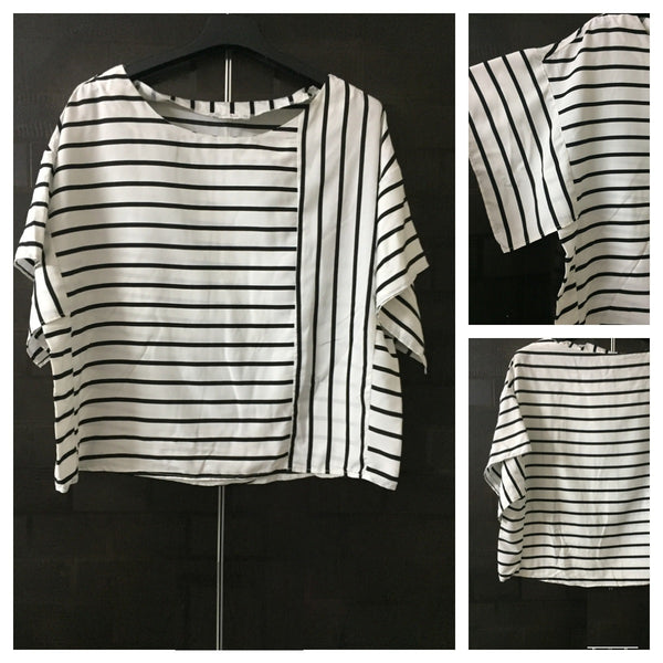 Stripes - Black and White Top