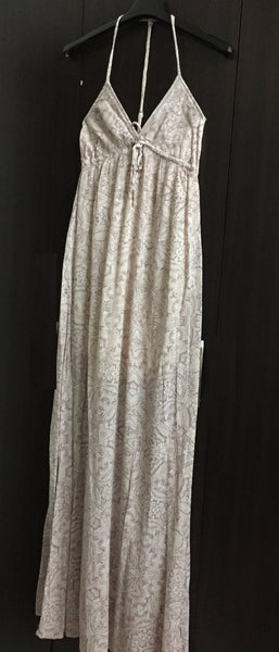 Pink and Cream, Back Tie stylish Maxi Dress.