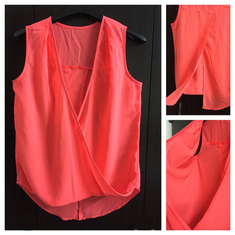 Neon Pink, Flip Back and Front Top.
