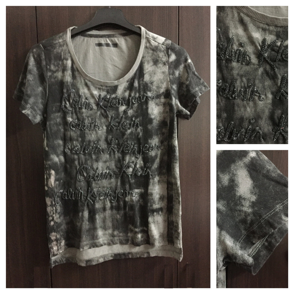 Little Shimmer, Black and Grey Washed out Tee