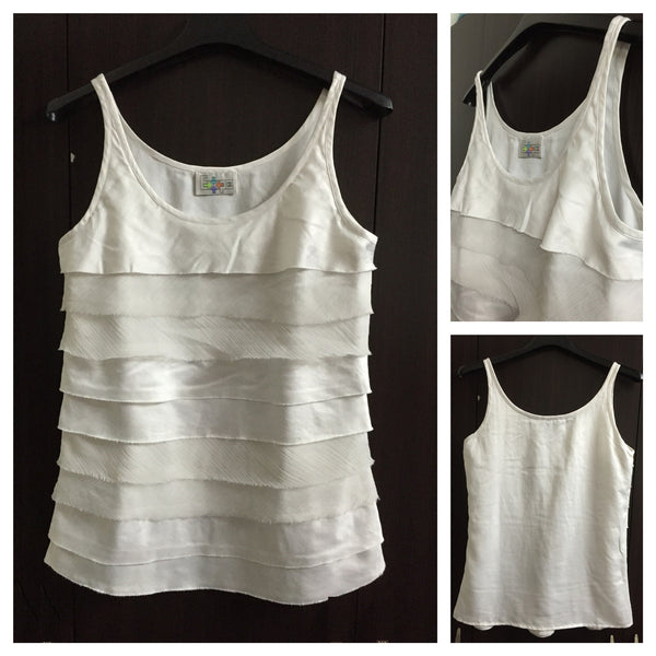 Little Shimmer Sleeveless Top with front Layers