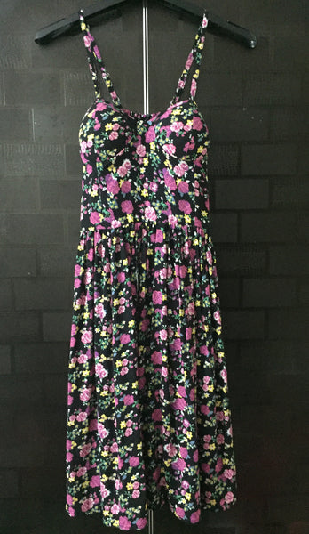 Black-Floral Spaghetti Dress - #FTFY - For The Fun Years
