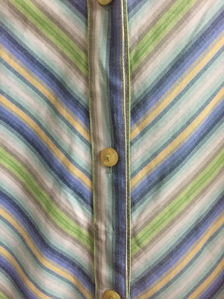 Green Blue Yellow Striped Shirt