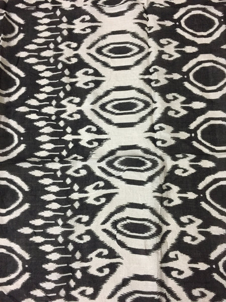 Square Black and Cream Printed Scarf