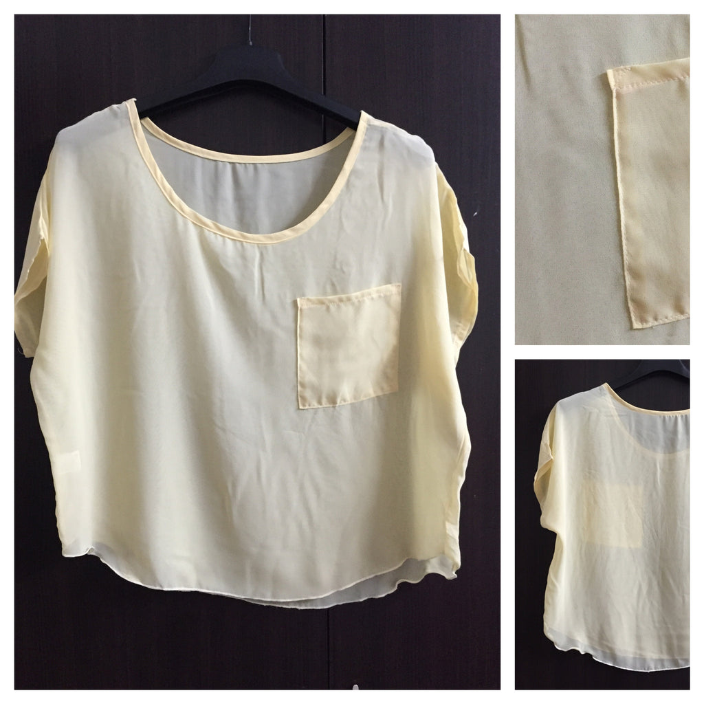 Soft Polyester Yellow Comfort Fit Top