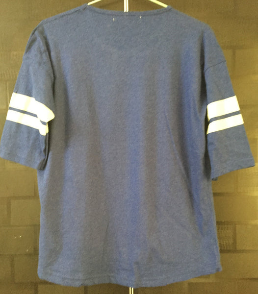 City Series - Blue & Yellow Brooklyn Quarter Sleeves Tee with double stripes on arms