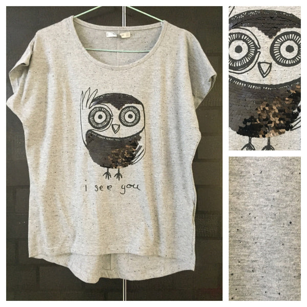 Black Sequin I See You on Black Spotted Grey Base comfy Tee - #FTFY - For The Fun Years