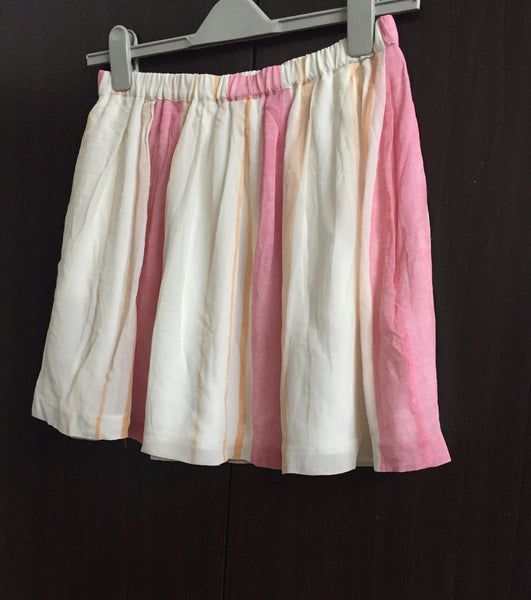 Pretty Pink and Cream Striped Skirt
