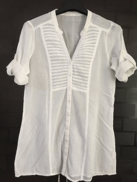 Elegant, Simple Cotton White Top