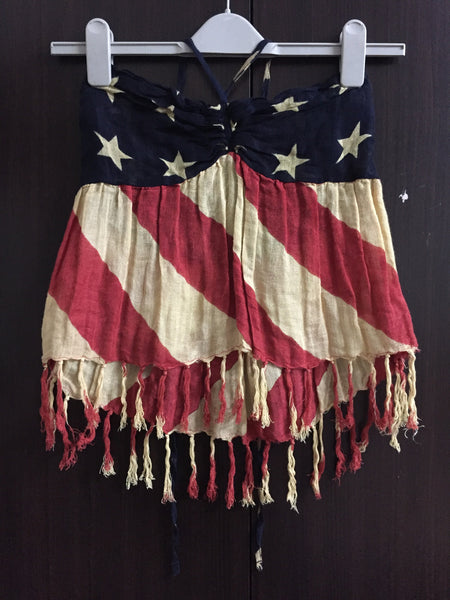 US Flag Halter Top